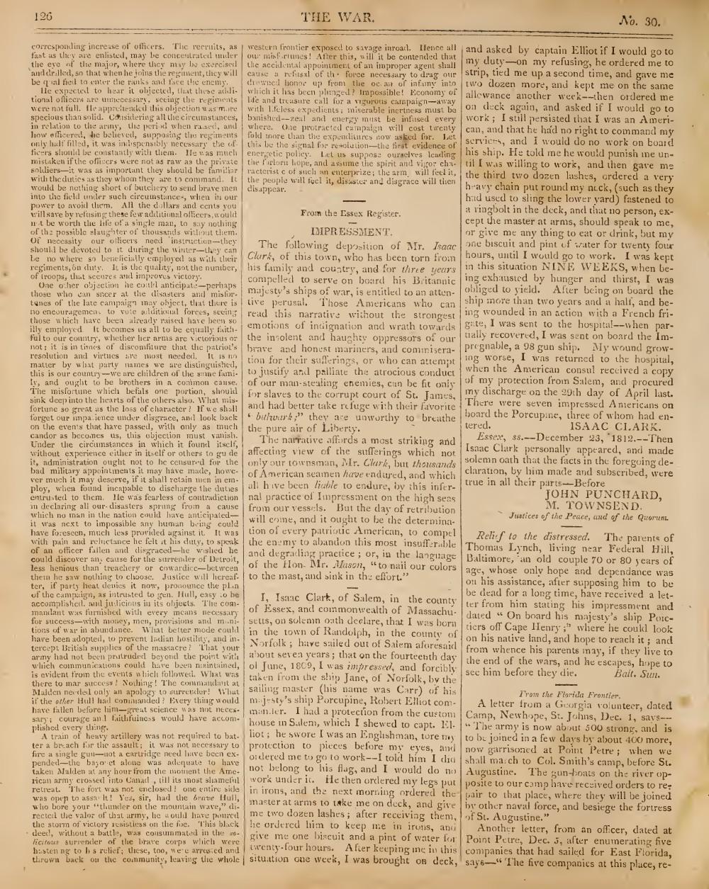 The War, 16 January 1813 (vol. 1, no. 30)