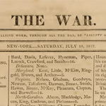 The War, 18 July 1812 (vol. 1, no.4)