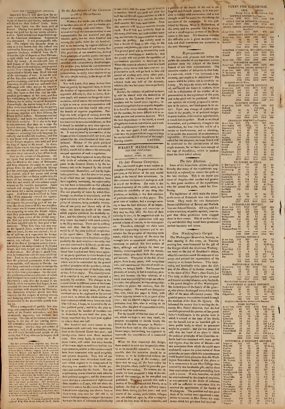 The Weekly Messenger, 16 April 1813