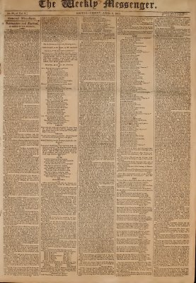 The Weekly Messenger, 2 April 1813 (vol. 2, no. 24)