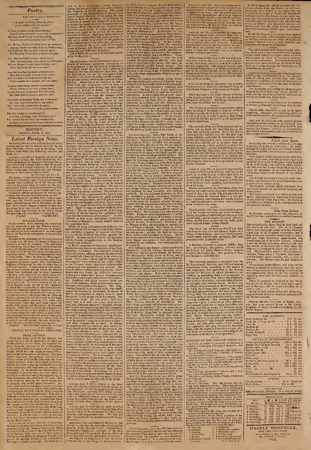 The Weekly Messenger, 2 April 1813 (vol. 2, no. 24)