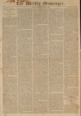 The Weekly Messenger, 26 June 1812 (vol. 1, no.36)