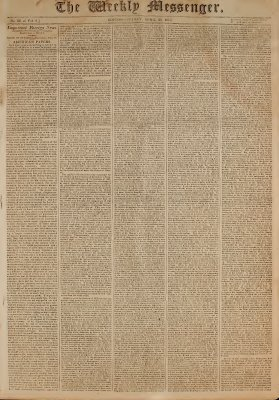 The Weekly Messenger, 30 April 1813 (vol. 2, no. 28)