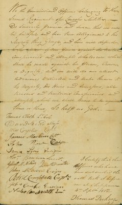 Oath of Allegiance to King George III