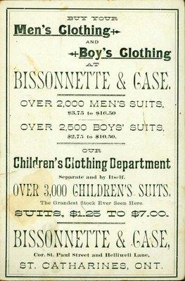 Bissonette & Case, the Clothiers