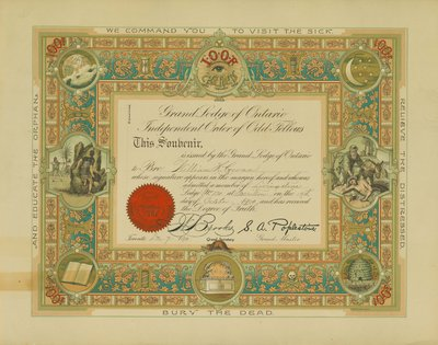 Grand Lodge of Ontario Independent Order of Odd Fellows - William H. Cowan