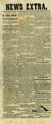 Broadside reporting the Fenian Invasion of Canada, June 2, 1866