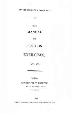 The Manual and Platoon Exercises, 1804