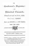 The Gentleman's Magazine and Historical Chronicle - 1814 January to June Index and Supplements