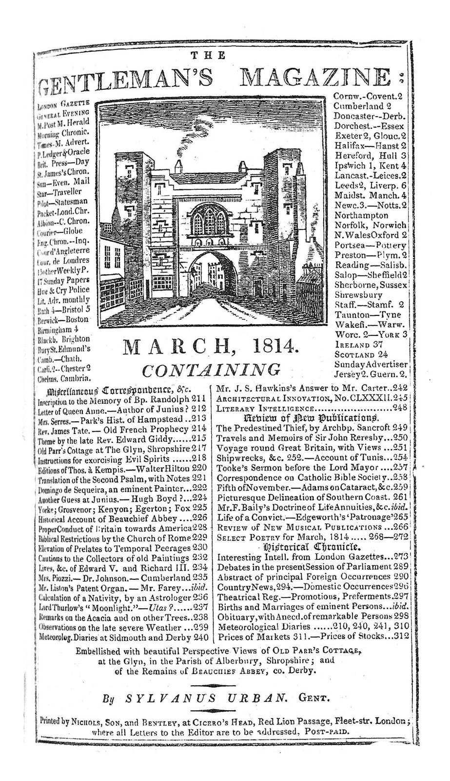 The Gentleman's Magazine and Historical Chronicle - 1814 March