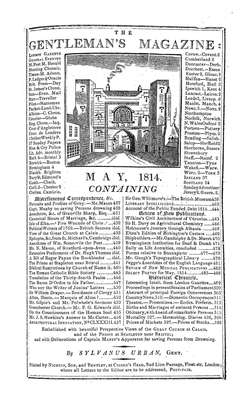 The Gentleman's Magazine and Historical Chronicle - 1814 May