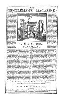 The Gentleman's Magazine and Historical Chronicle - 1814 July