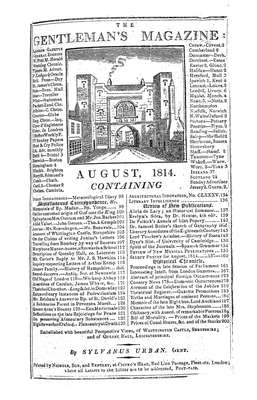 The Gentleman's Magazine and Historical Chronicle - 1814 August