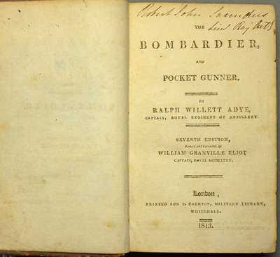 The Bombardier, and Pocket Gunner, 7th Edition- 1813