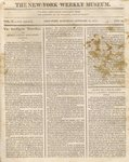 The New York Weekly Museum Newspaper, Vol. II, No.26- October 30, 1813