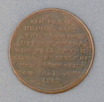 Sir Isaac Brock Commemorative Half-Penny Token