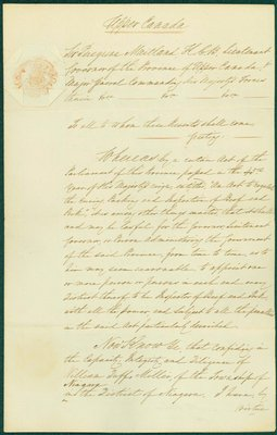 Letter Discussing the Parliamentary Act to Regulate the Curing, Packing, and Inspection of Beef and Pork. 1819