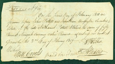 Promissory Note, February 2, 1811 - William and Abraham Nelles and Nathanial Pettit Estate