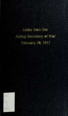 Letter from the acting Secretary of War, transmitting information relative to the claims of the State of Massachusetts for payment of the expenses of the militia ordered out by the executive authority of the state, during the late war