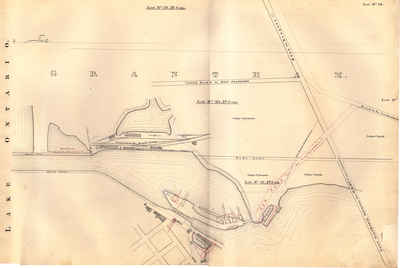 Second Welland Canal - Book 1, Survey Map 2 - Lock 1 and Port Dalhousie