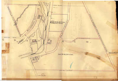 Second Welland Canal - Book 2, Survey Map 5 - Locks 16, 17 and 18 in Grantham