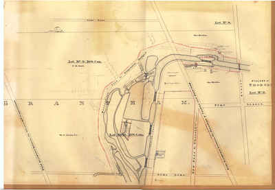 Second Welland Canal - Book 2, Survey Map 6 - Locks 19, 20, 21 and 22 in Grantham
