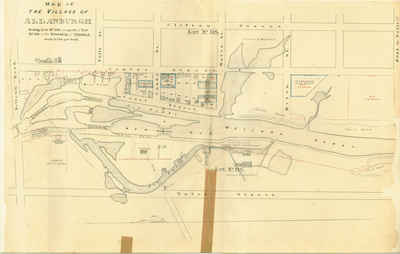 Second Welland Canal - Book 2, Survey Map 14 - Lock 26 and Allanburgh