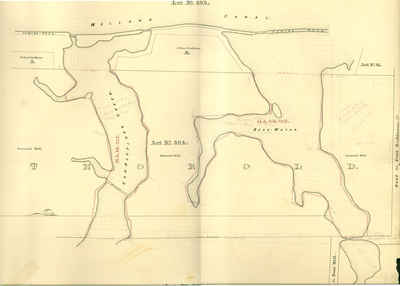 Second Welland Canal - Book 3, Survey Map 3 - Vanalstines Creek and Back Water in Thorold