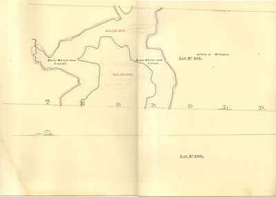 Second Welland Canal - Book 3, Survey Map 4 - Back Water in Thorold