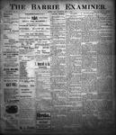 Barrie Examiner, 1 Nov 1900