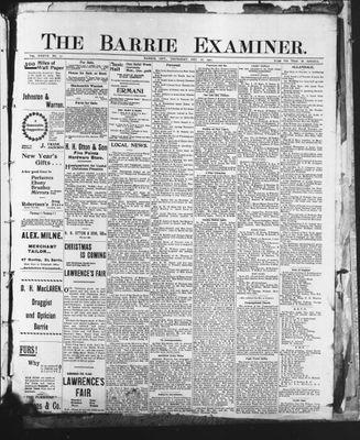 Barrie Examiner, 26 Dec 1901