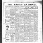 Barrie Examiner, 11 Apr 1912