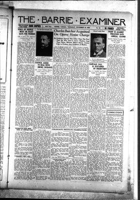 Barrie Examiner, 18 Nov 1926