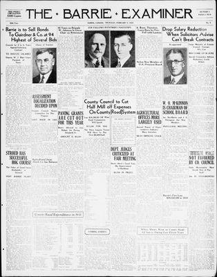 Barrie Examiner, 4 Feb 1932