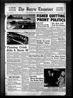 Barrie Examiner, 26 Oct 1959