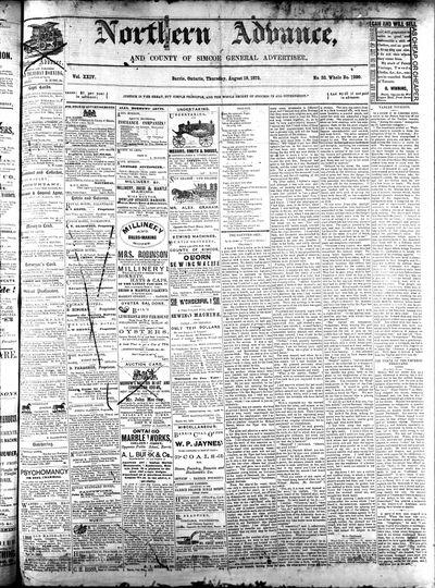 Northern Advance, 19 Aug 1875