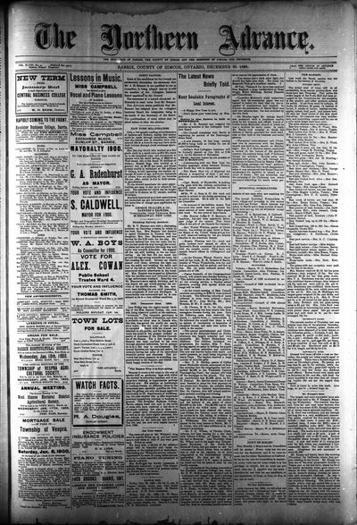 Northern Advance, 28 Dec 1899