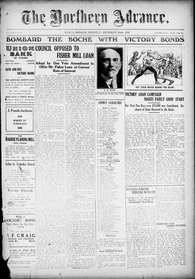 Northern Advance, 31 Oct 1918