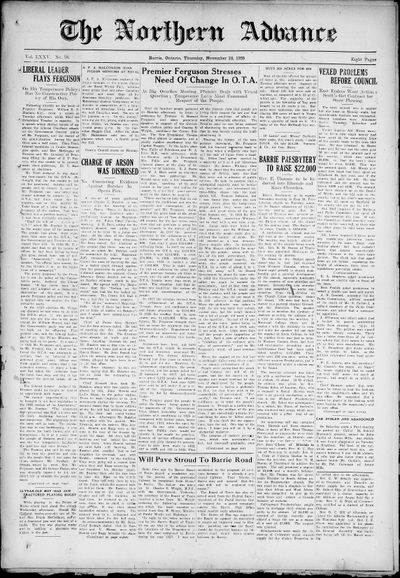 Northern Advance, 18 Nov 1926