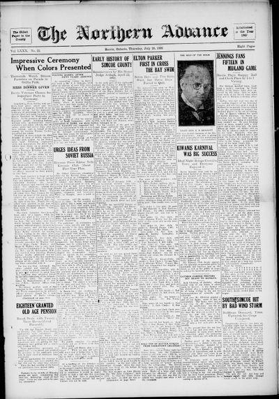 Northern Advance, 28 Jul 1932