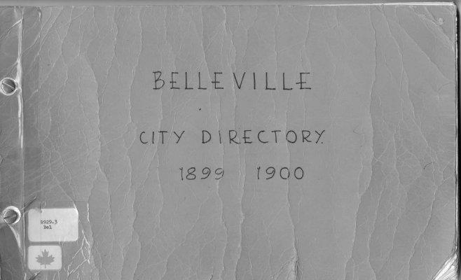 Belleville City Directory 1899-1900