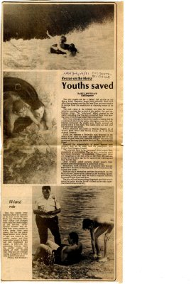 Rescue on the Moira - youths saved