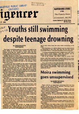Youths still swimming despite teenage drowning