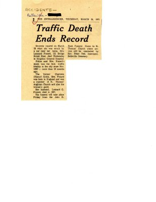Traffic death ends record