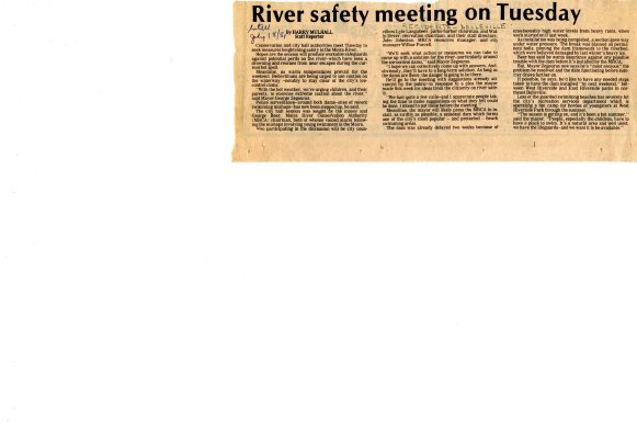 River safety meeting on Tuesday