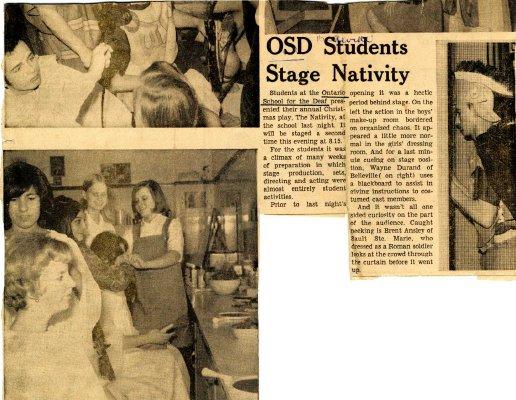 OSD students stage nativity