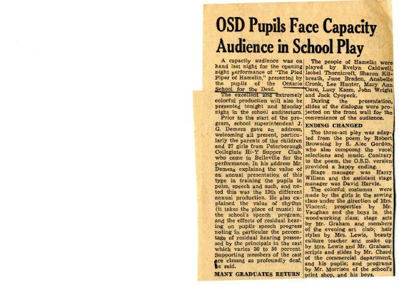 OSD pupils face capacity audience in school play