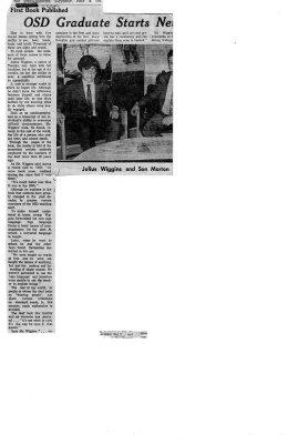 OSD Graduate starts newspaper to communicate - Julius Wiggins and son Morton