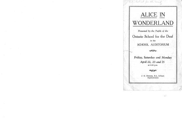 Alice in Wonderland (Play Pamphlet)