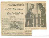 Integration's A-OK for these deaf children